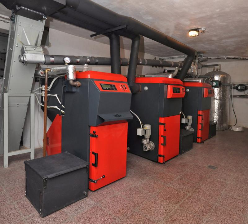 cascade of automatic boilers VERNER.